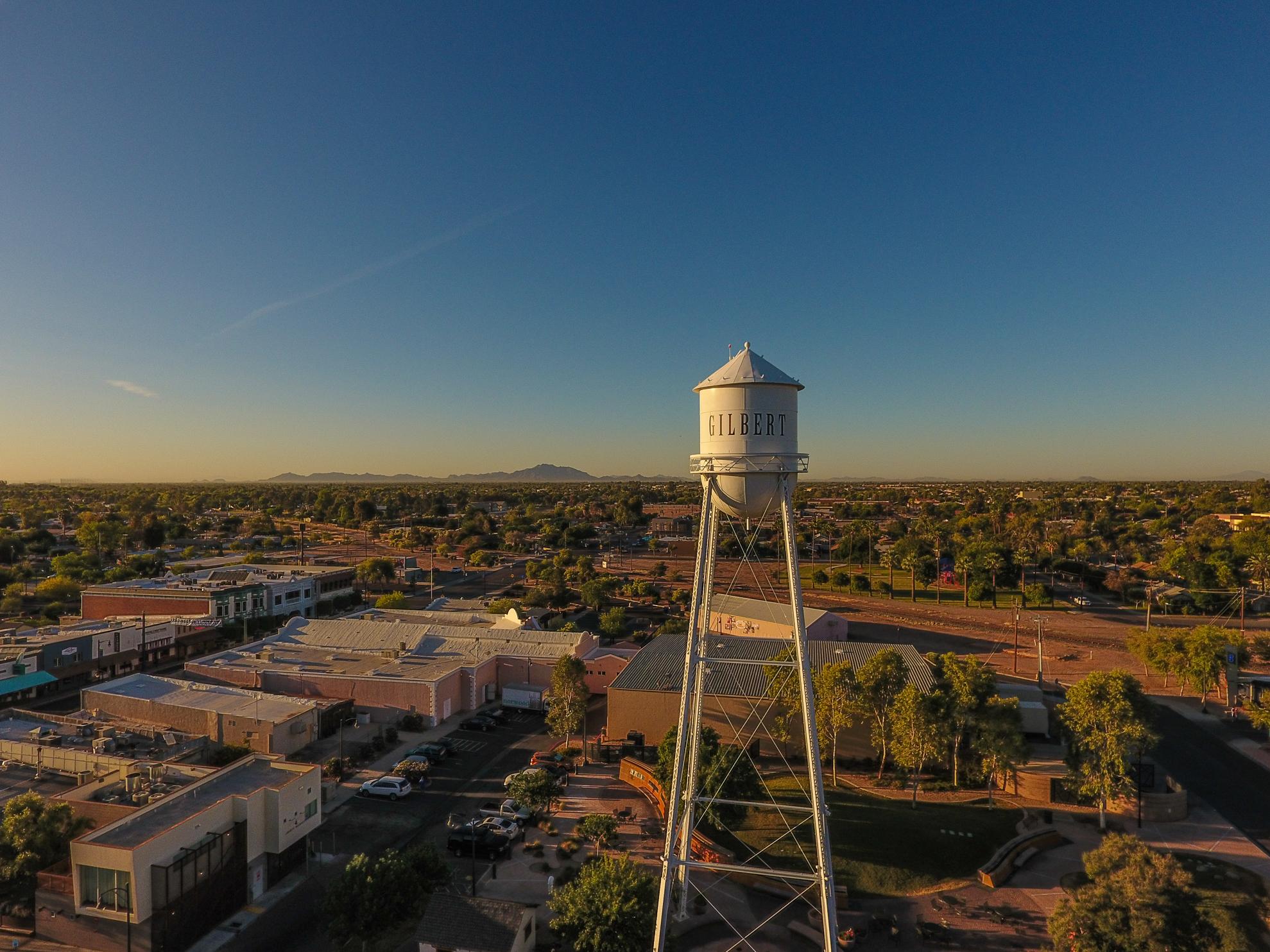 Old Town Gilbert Arizona at Sunrise