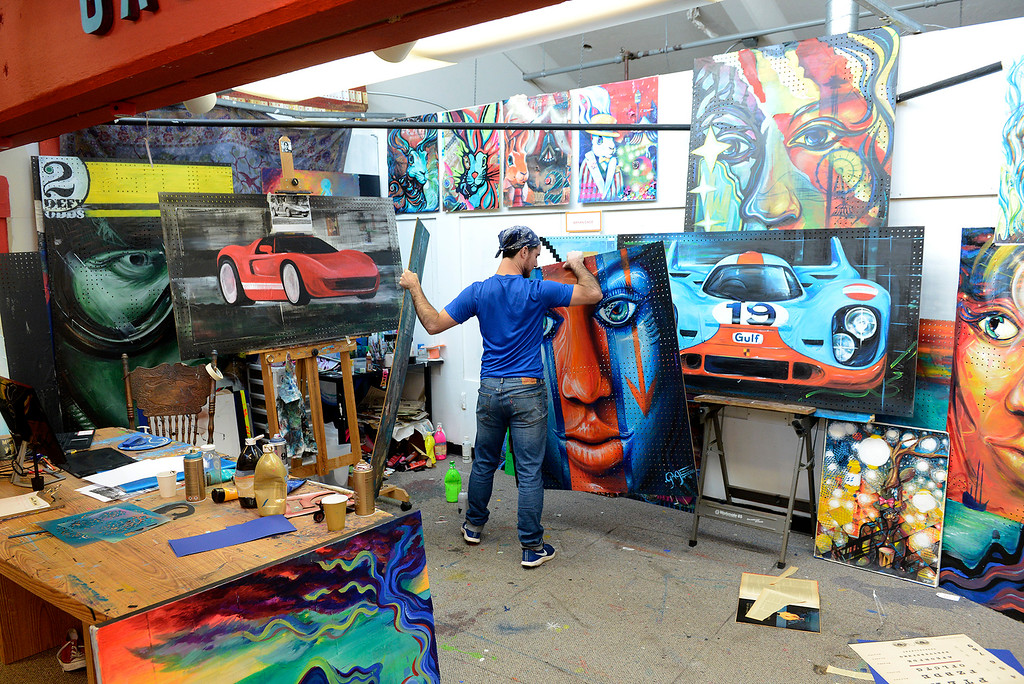 Pacific Grove based artist working out of Artworks