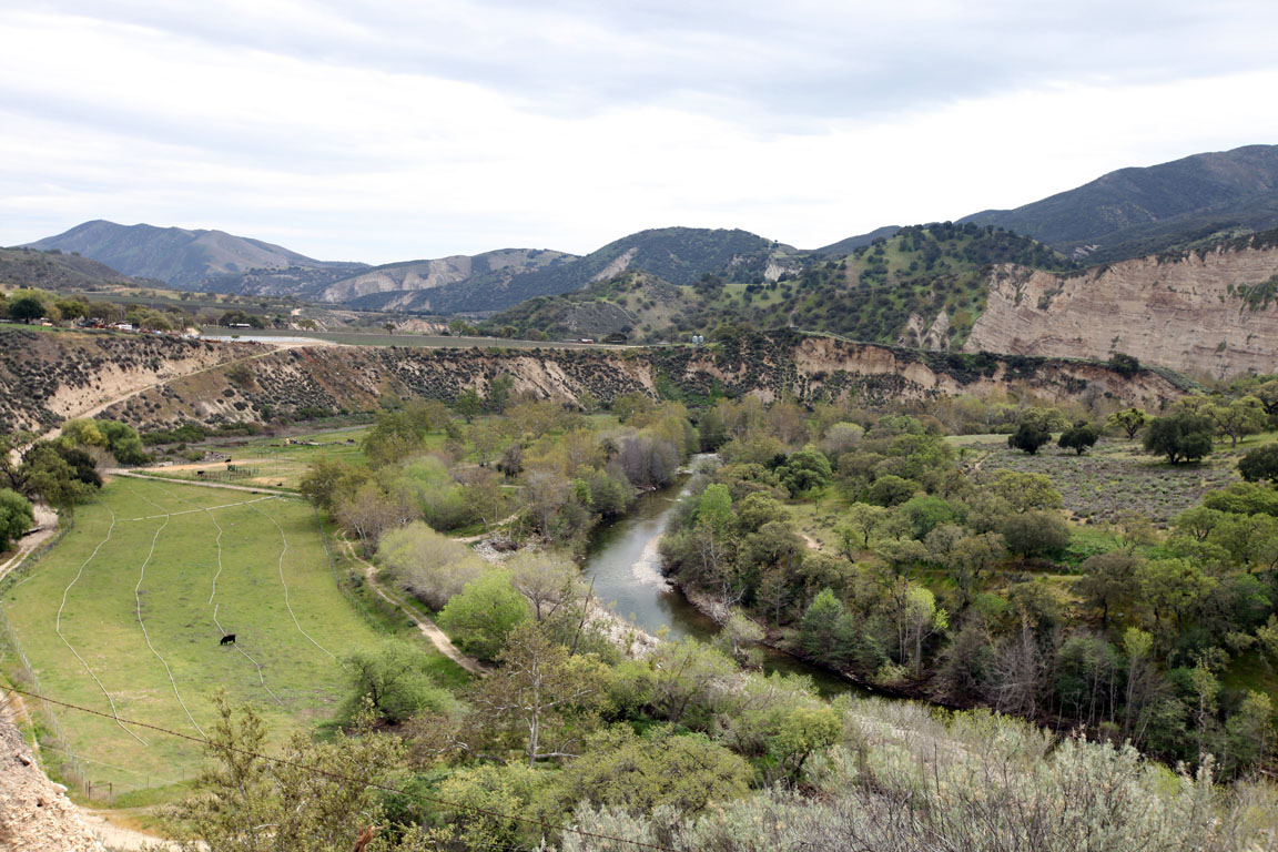 Views of the Arroyo Seco River in South Monterey County, CA