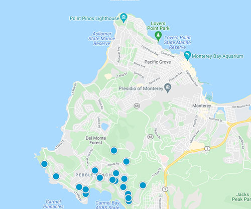 monterey peninsula mls map search