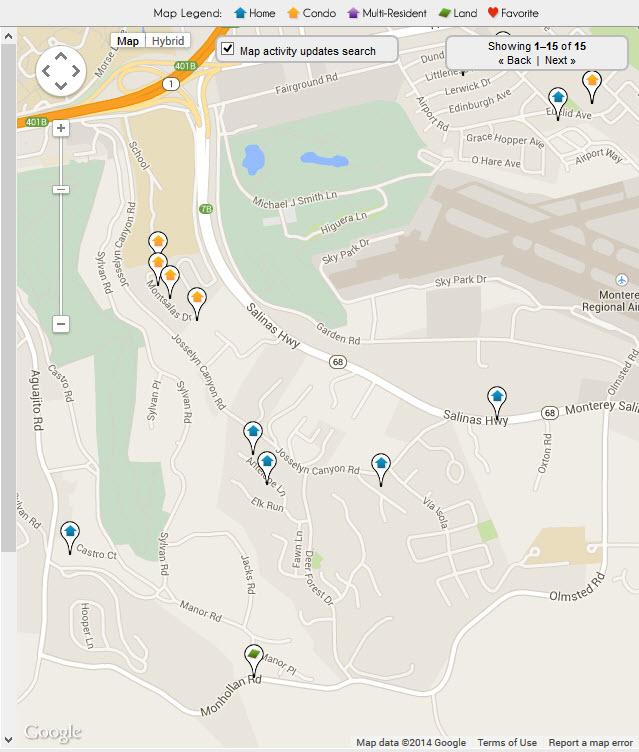 Monterey Fishermans Flats real estate Map