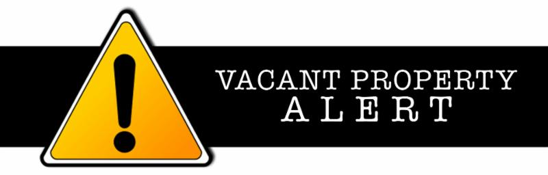Vacant Property Alert Graphic