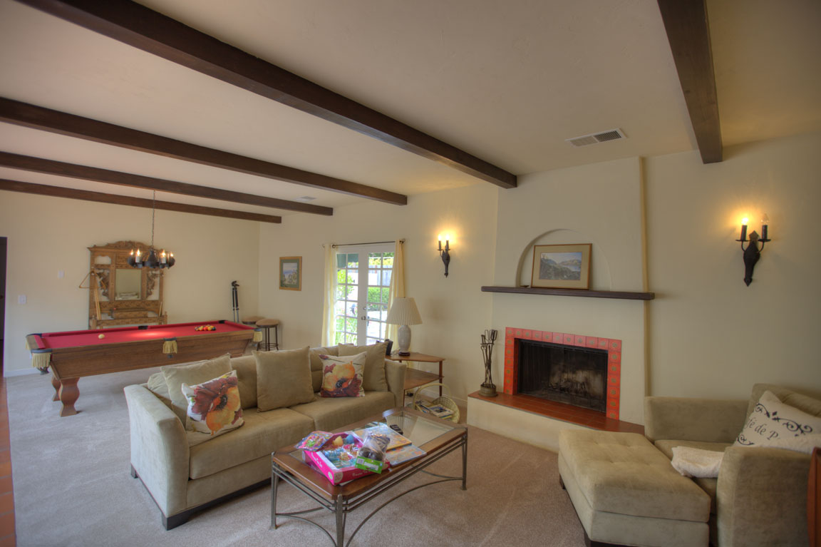 Pebble beach Spanish Colonial interior