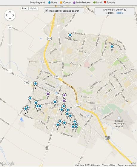 Salinas Real Estate Map