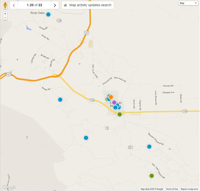 San Juan Bautista real estate map