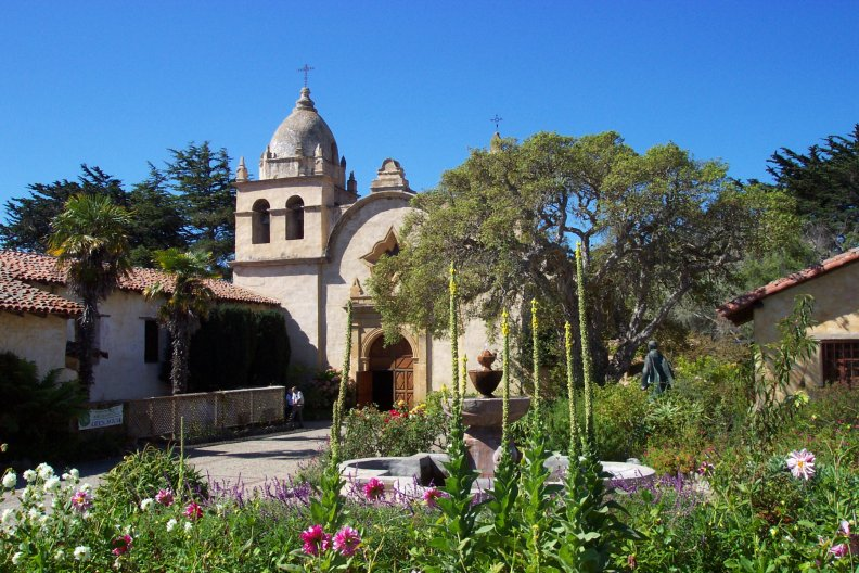 Carmel Mission in Mission Fileds, Carmel, CA
