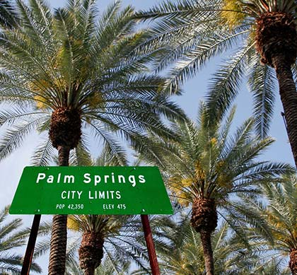 Entering into Palm Springs