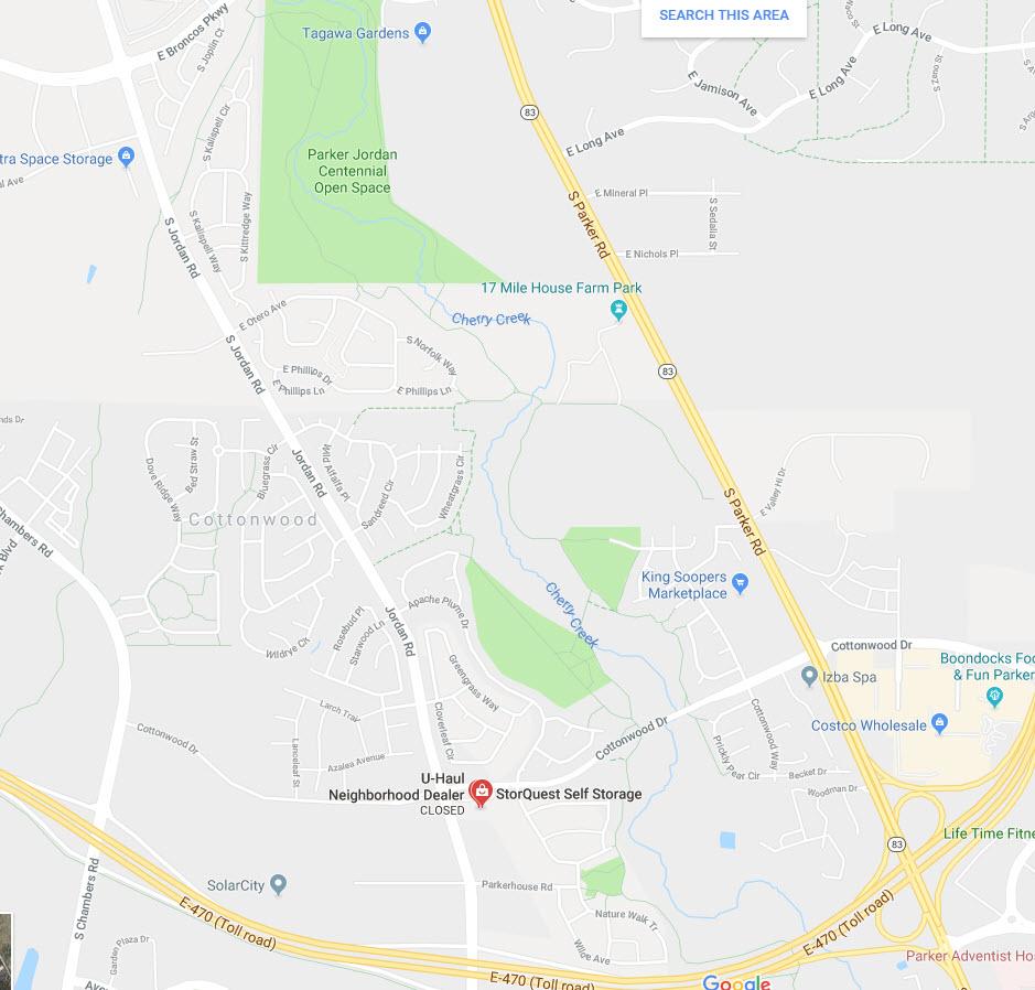 cottonwood google maps