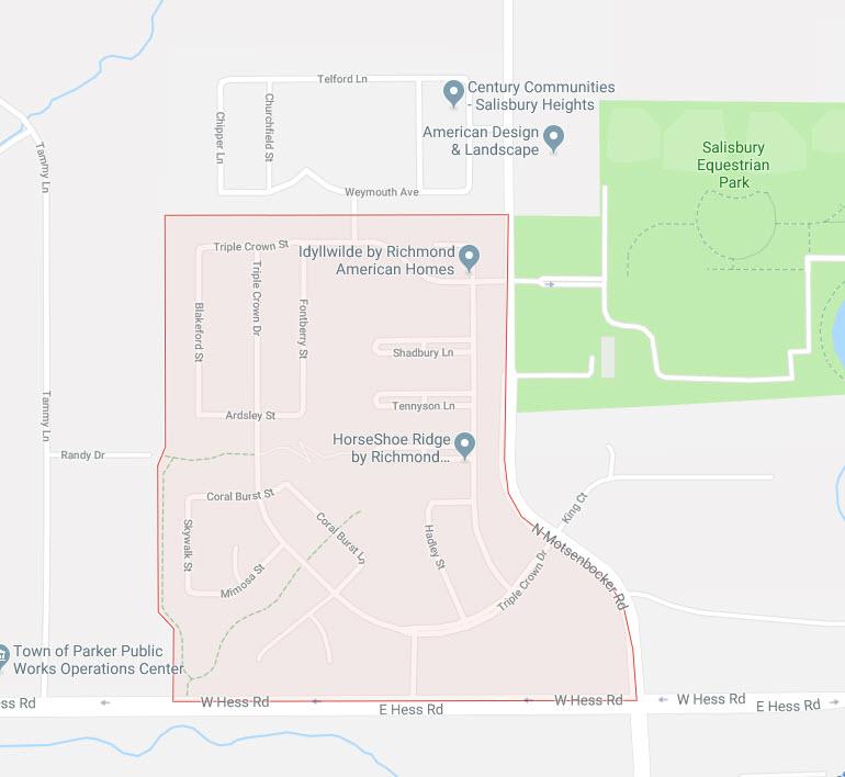 Horseshoe Ridge Google Maps
