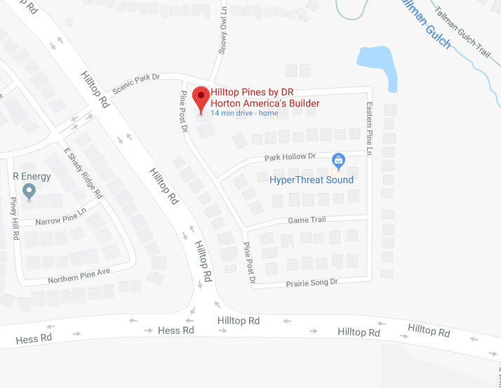Hilltop Pines Google Maps