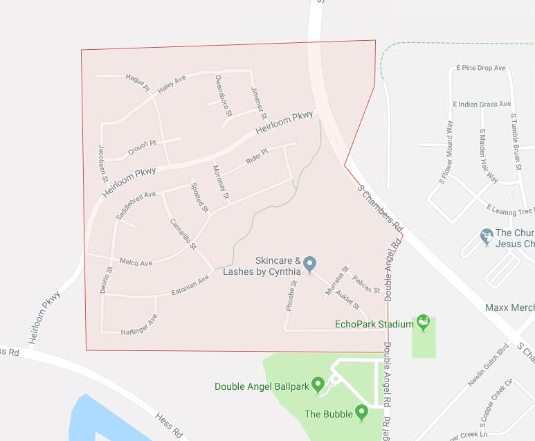 heirloom parker homestead google maps