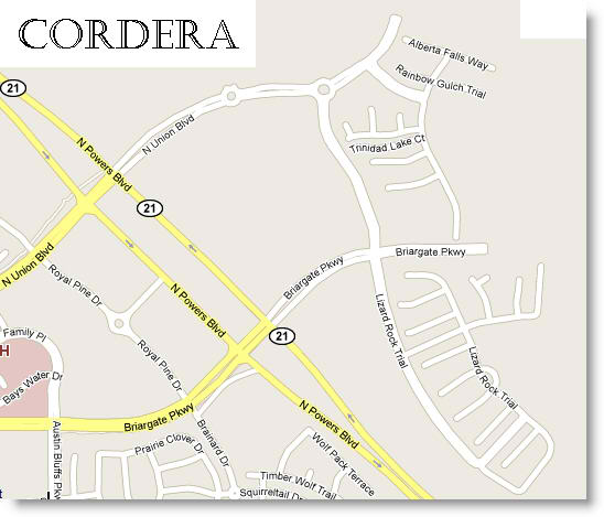 Search Cordera real estate by map