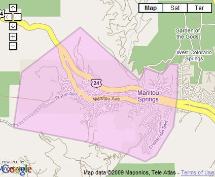 Manitou Springs Real Estate Map