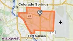 Search Southeast Colorado Springs Real Estate by map