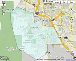Search Southwest Colorado Springs real estate by map