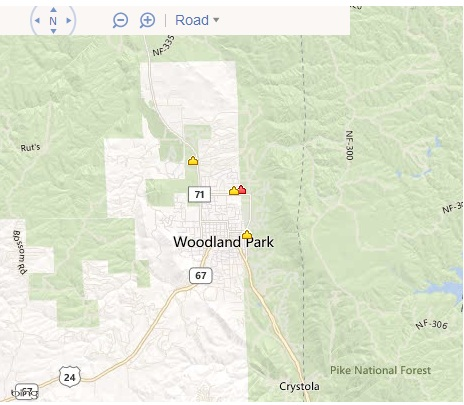 Search Woodland Park Real Estate by Map