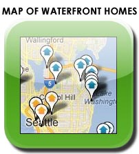 Map search waterfront homes in Redmond