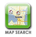 Interactive map search Seattle homes