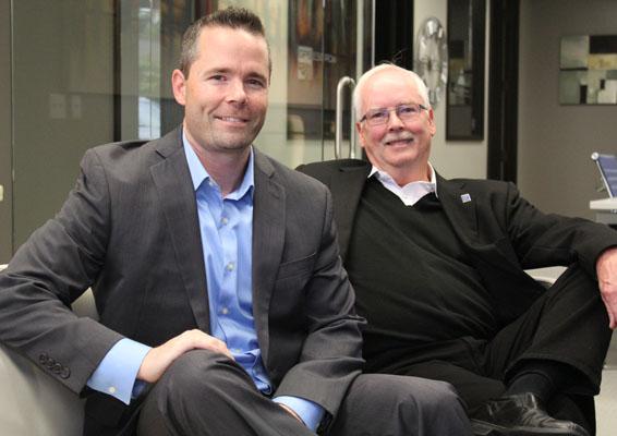Seattle real estate brokers Sam DeBord and Brian Wiegand