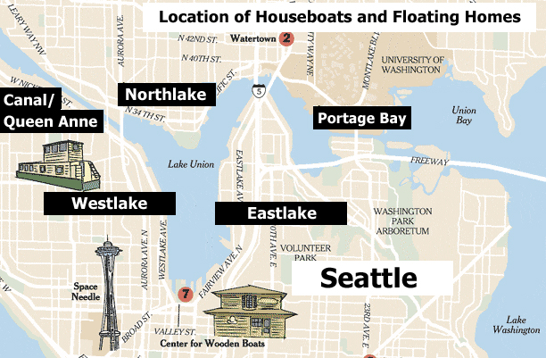 Seattle Floating Homes and Houseboats Guide Part 5 Locations
