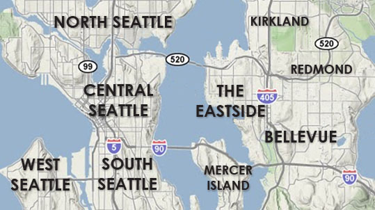 Seattle homes area map
