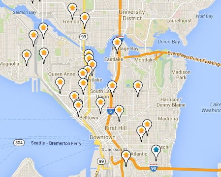 Map of Seattle foreclosures