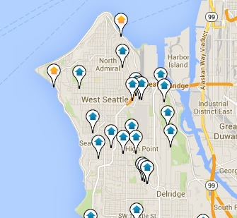 Search West Seattle homes for sale by location