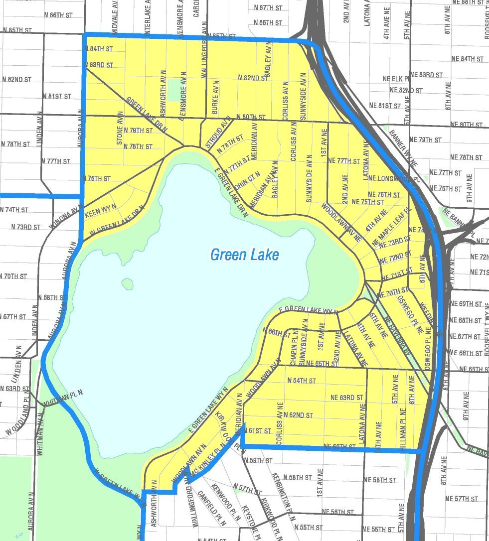 Green Lake Seattle map