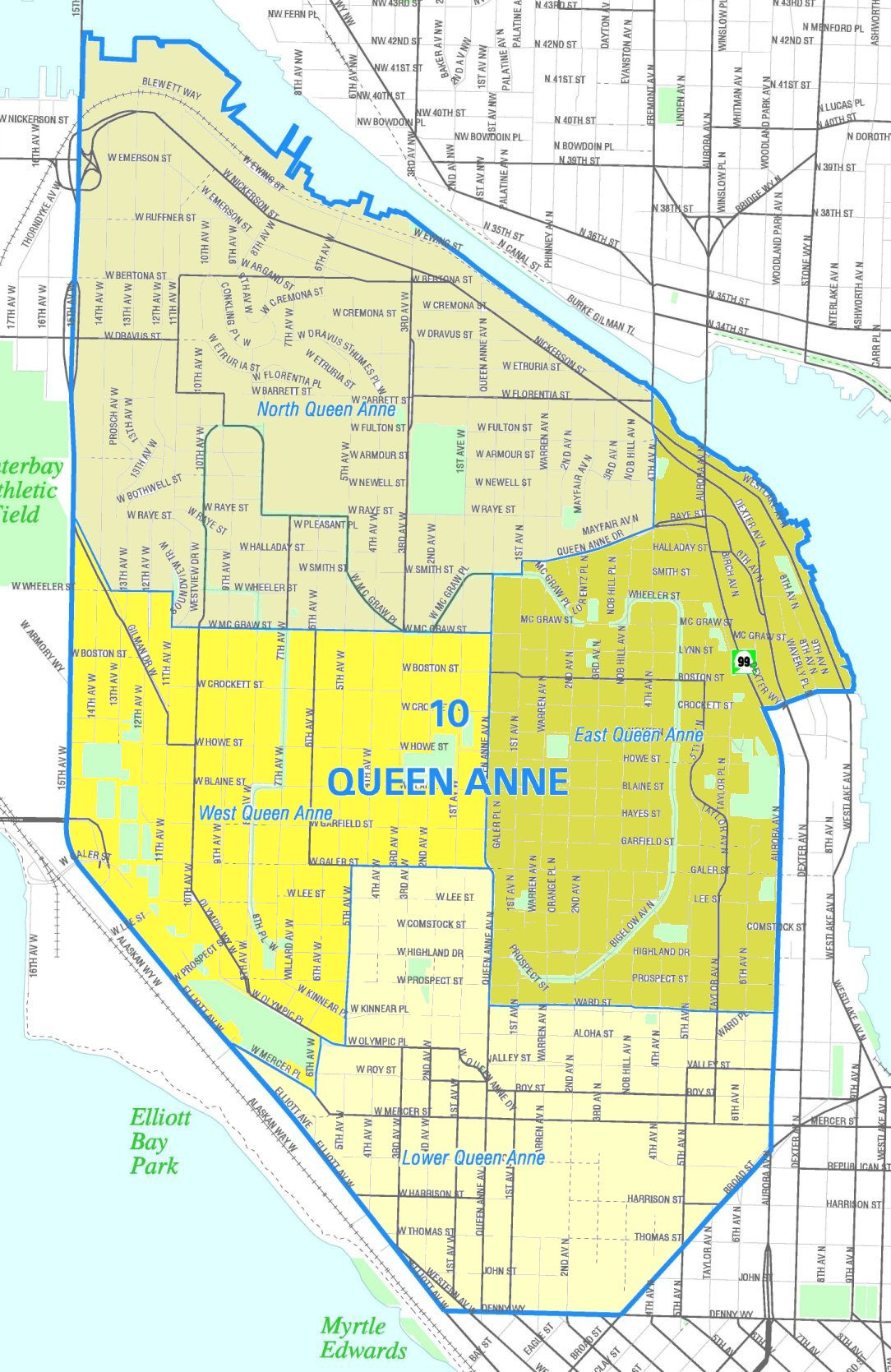 Map of Queen Anne