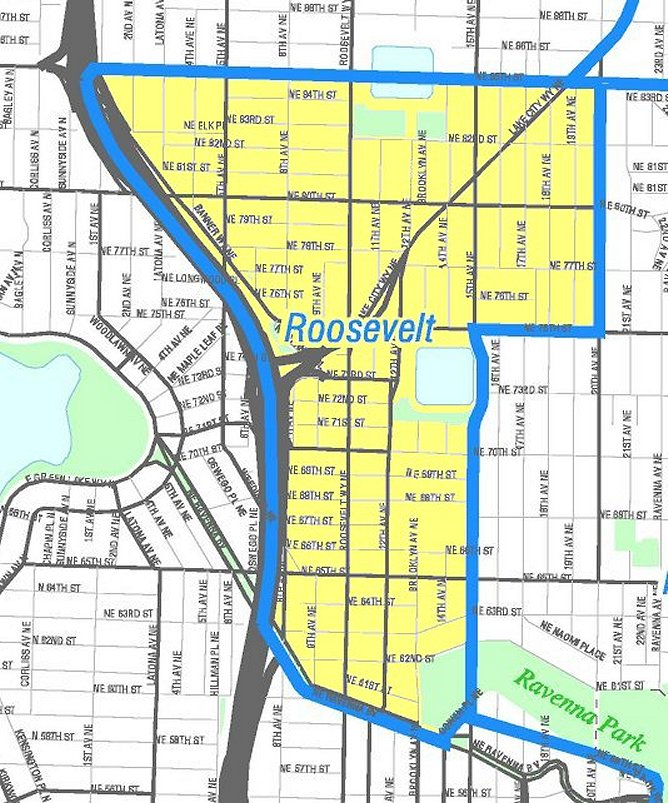 Roosevelt Seattle neighborhood map