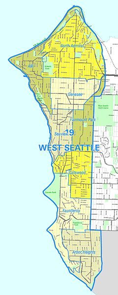 West Seattle Map