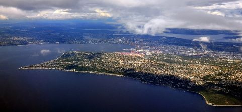 West Seattle aerial view