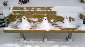 Snow People at the Park
