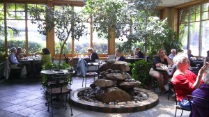 Fountain Patio Dining at Cafe Flora in Madison Park