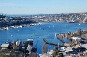 Looking down from Capitol Hill on South Lake Union
