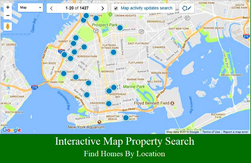 Interactive Brooklyn property map search.