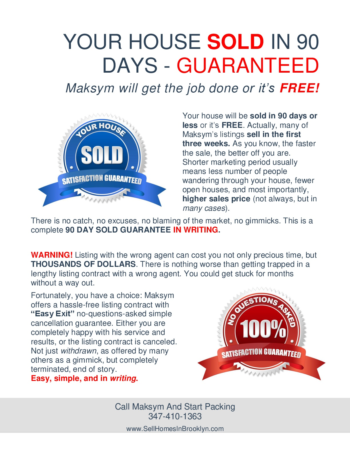Sell your home in Brooklyn In 90 Days Part 7