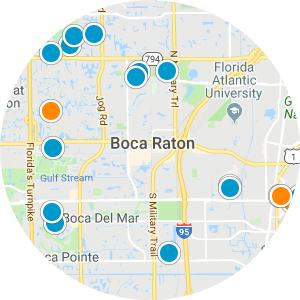 Central Boca Raton Real Estate Map Search