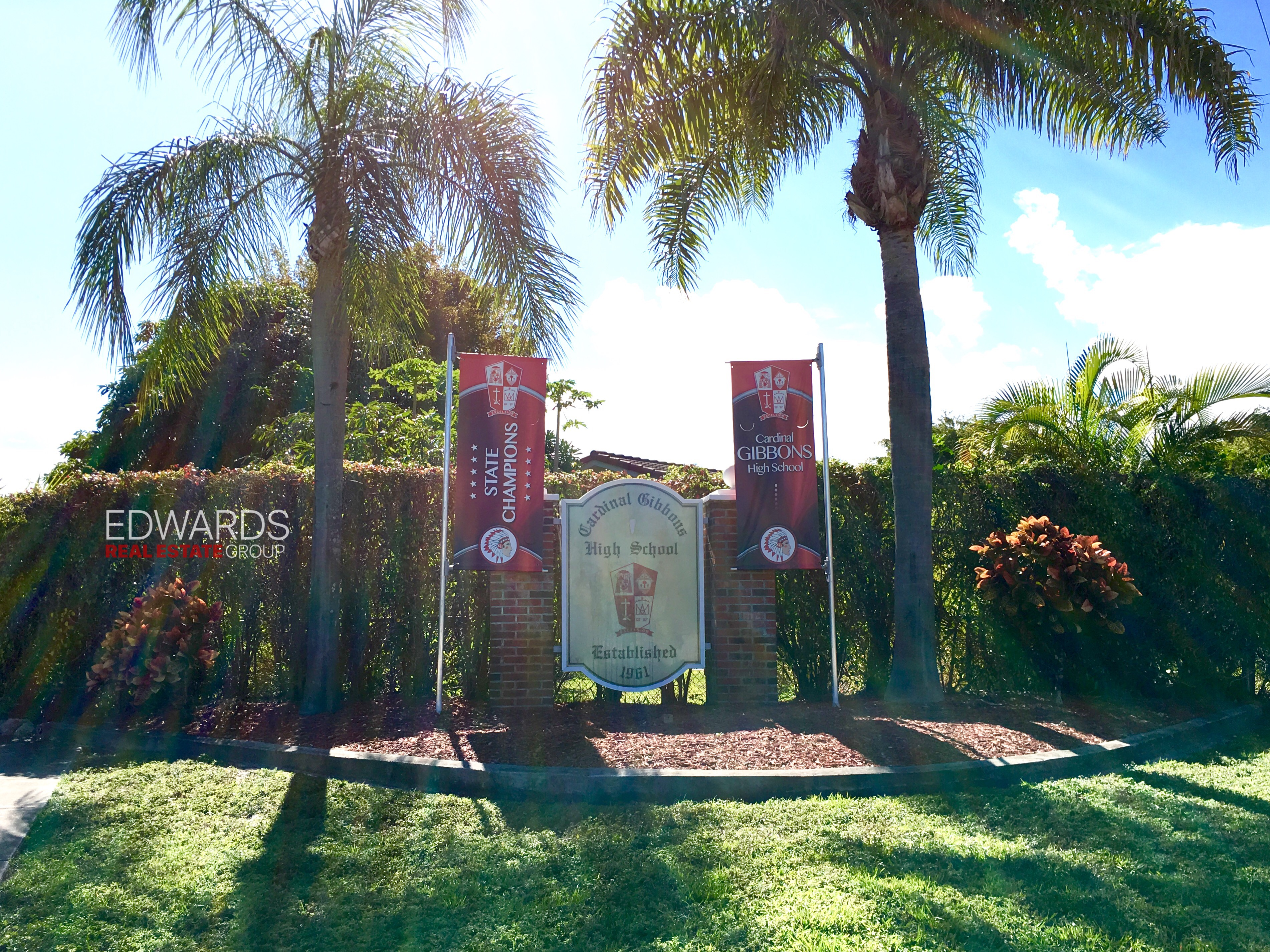 Cardinal Gibbons High School off of Bayview Drive in Coral Ridge Neighborhood of Fort Lauderadle