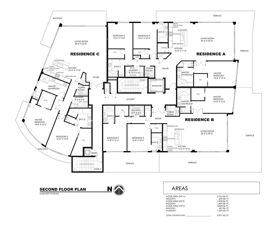 33 Intercoastal - Second Floor Plan
