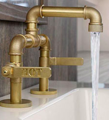 Watermark industrial brass faucet