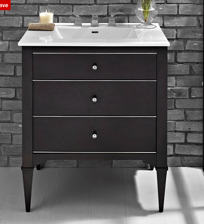Fairmont designs black vanity