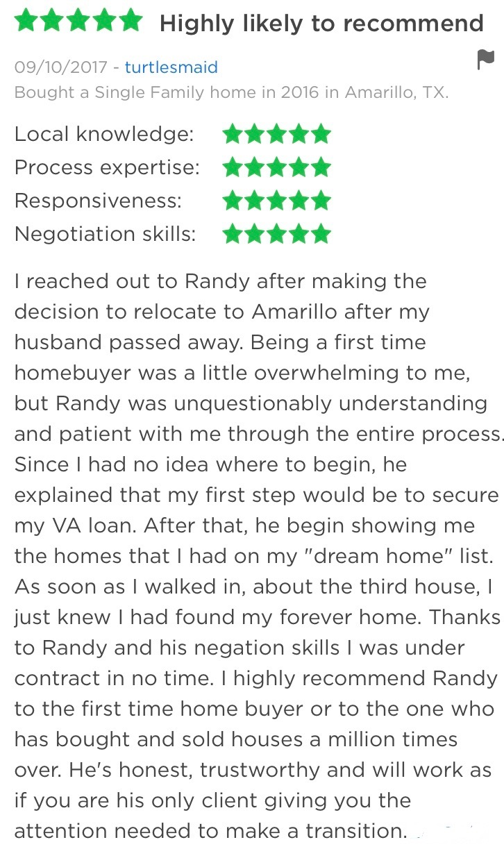Randy Astle Zillow Review