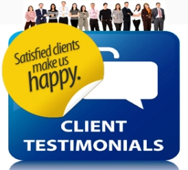 Some testimonials and reviews from clients