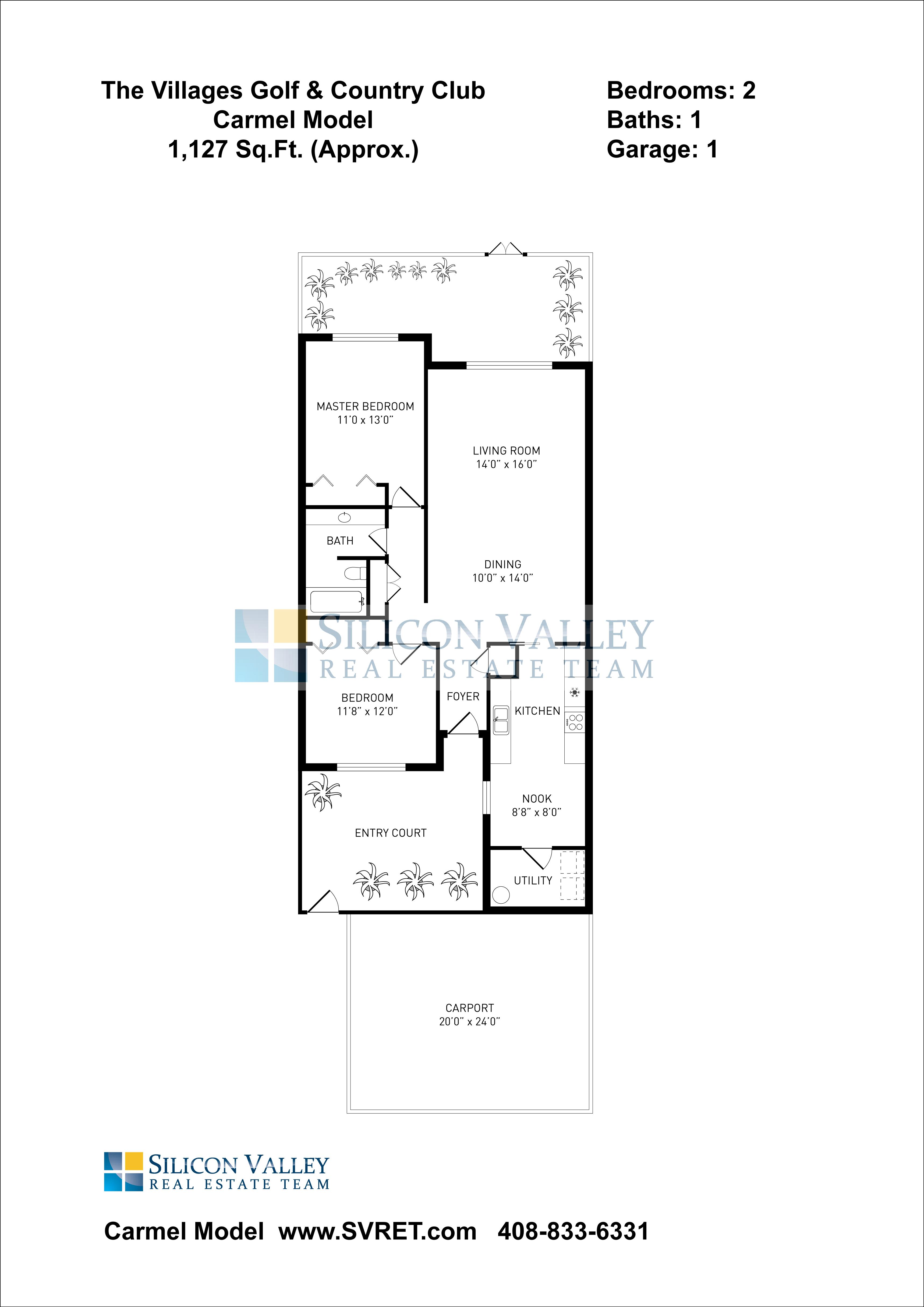 Carmel Floor Plan Model 1 127sf Montgomery Village