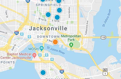 northeast florida home search map