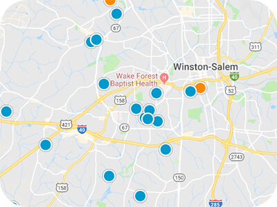 Winston Salem Real Estate Map Search