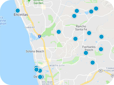 North County San Diego Real Estate Map Search