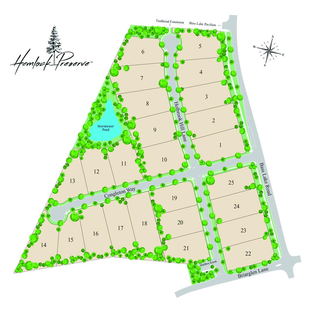 Hemlock Preserve Map
