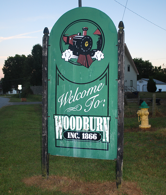 Woodburn KY welcome sign